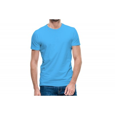 Basic Cyan Half Sleeve T-shirt