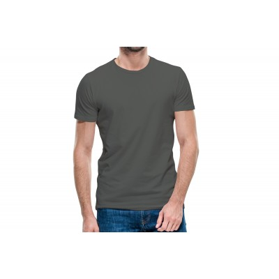 Basic Dark Grey Half Sleeve T-shirt