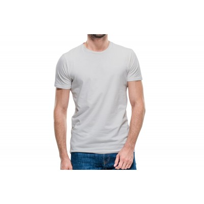 Basic Light Grey Half Sleeve T-shirt