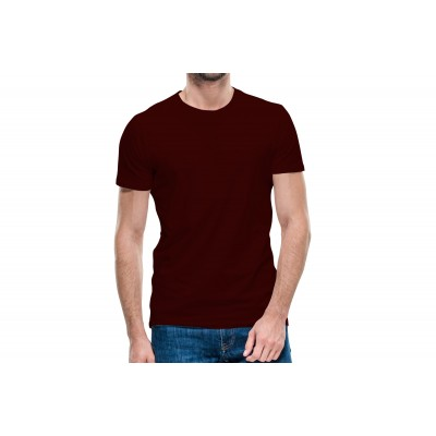 Basic Maroon Half Sleeve T-shirt