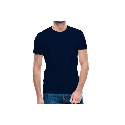 Basic Navy Blue Half Sleeve T-shirt