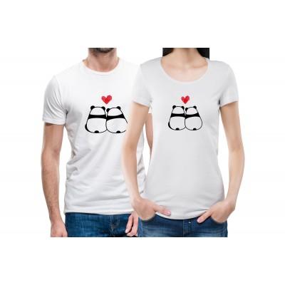 Panda Love Couple Tees