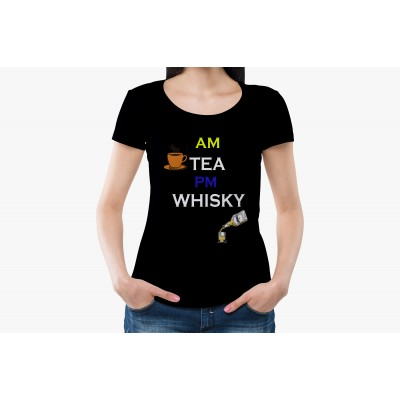 AM PM Half Sleeve T-shirt