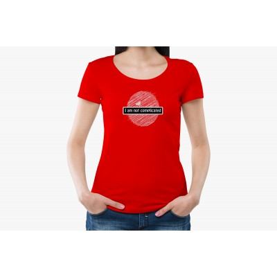 I'm not Complicated Half Sleeve T-shirt