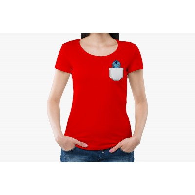 Cartoon Pocket Half Sleeve T-shirt
