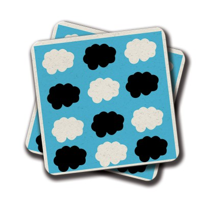 Cloudy Day Coaster - Set Of 2 (4 inch x 4 inch)