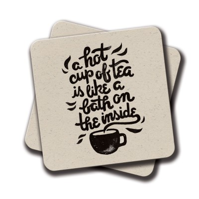 A hot cup of tea Coaster - Set Of 2 (4 inch x 4 inch)