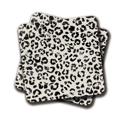 Cheetah print Coaster - Set Of 2 (4 inch x 4 inch)