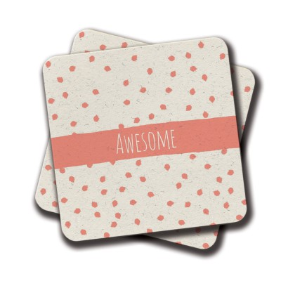 Awesome Coaster - Set Of 2 (4 inch x 4 inch)