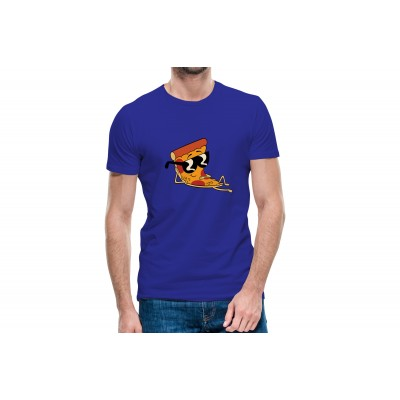 Cool Pizza Half Sleeve T-Shirt
