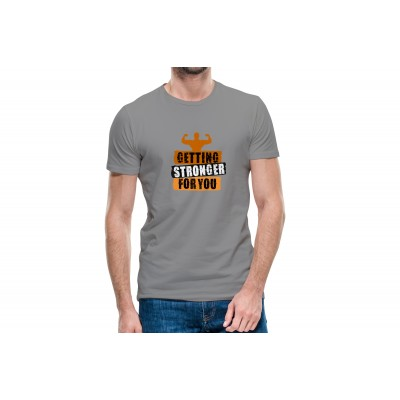 Getting Stronger For You Half Sleeve T-Shirt